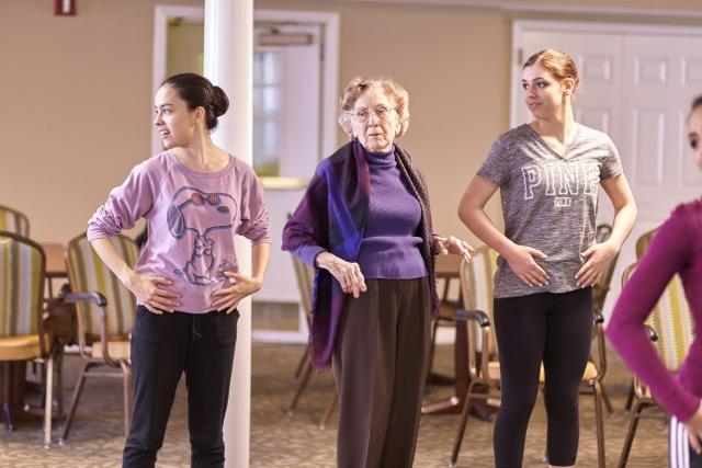 Hope Stone's Multi-genrational Dance class, Grace in Motion (Seniors & Teens)