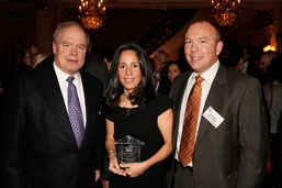 2009 Annual Benefit, in photo L-R, Steven Edwards, Priscilla Almodovar and Michael Callaghan