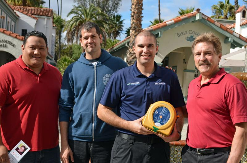 AED Donation to Calvalry Chapel Community Campus, Murrieta, Ca