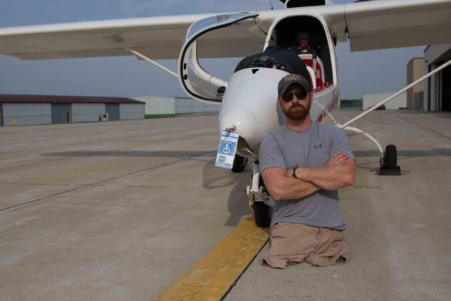 Wounded veteran Andrew Kinard became an Able flight pilot in 2013.