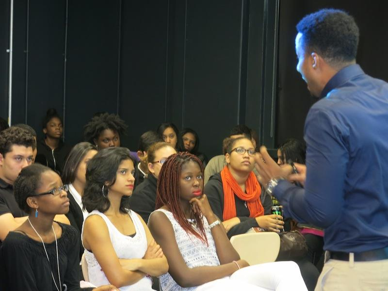 Program Director Angel addresses CFES Scholars in NYC