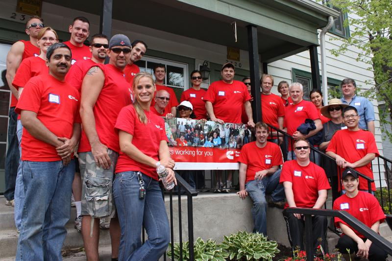 Nearly 1,500 volunteers each year help Aeon create home for its residents.