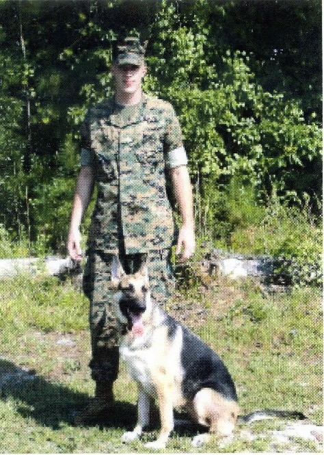 MARINE AND HIS BELOVED PET