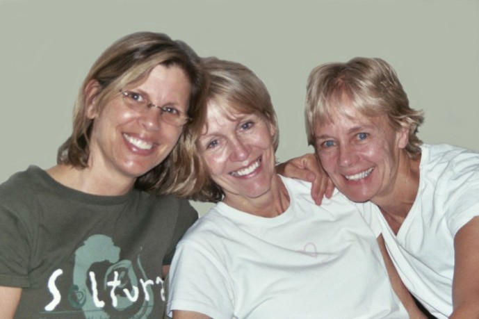 Alix Buckley, Co-founder, with volunteer facilitators Becky and Corky.