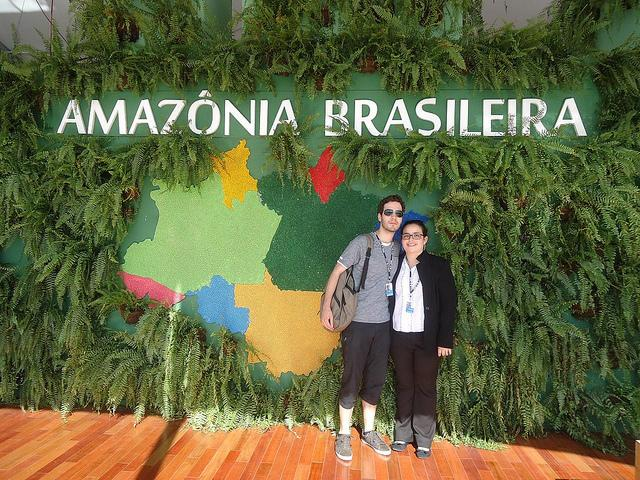 Volunteers Pedro and Ana attended Rio+20, the UN Conference on Sustainable Development