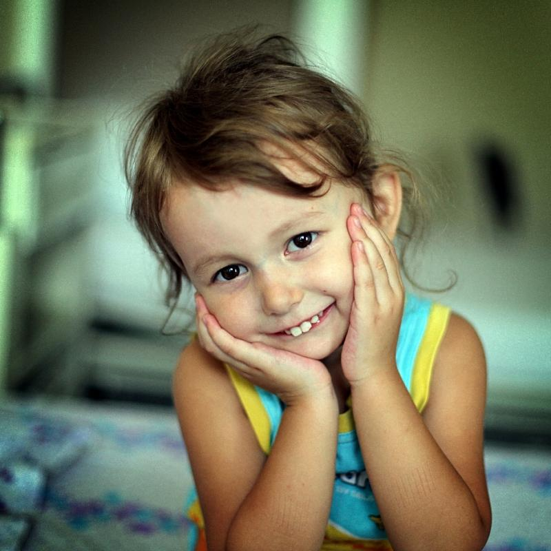 Anya, saved by heart surgery in Ukraine, thanks to World of Children Award funding