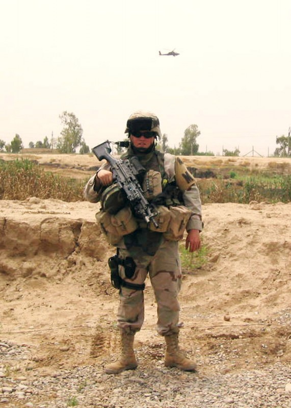 SPC Michael Aros Truhe, one of the soldiers supported by SSOT