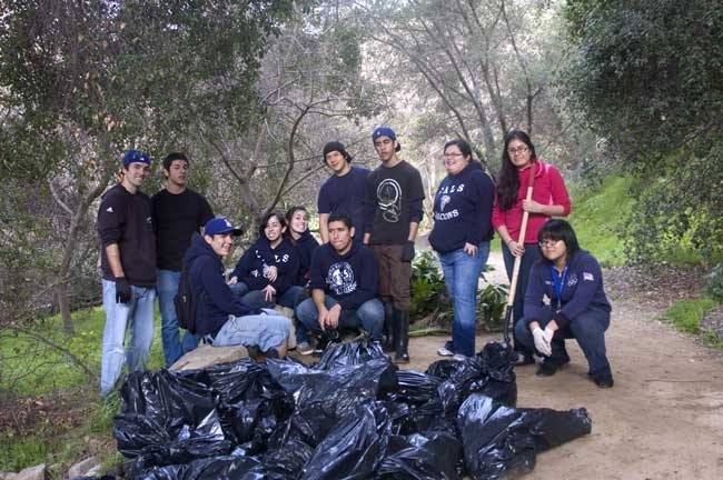 Involving young people in watershed cleanups is a key element of ASF's strategy.