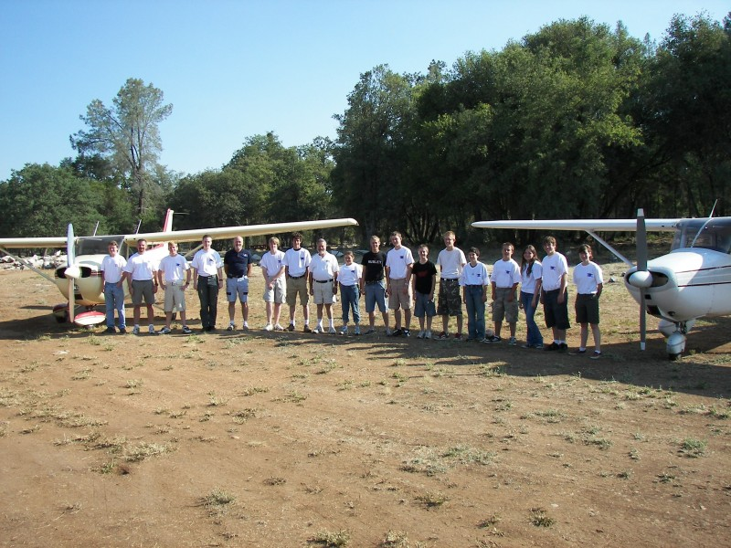 Typical Aviation Camp Group