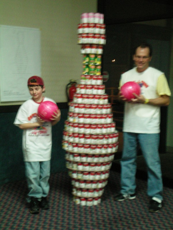 A sculpture to promote the Food Distribution Center need for donations at our annual Bowl-a- thon.