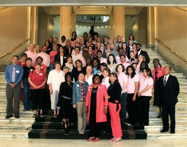 Breast Impressions sponsored the 1st Breast Cancer Awareness Day at the State Capitol in Oklahoma