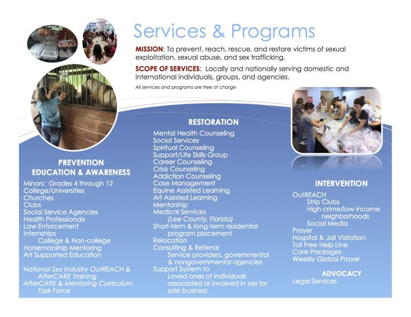 We provide 30+ victim-centerd services & programs, free of charge.