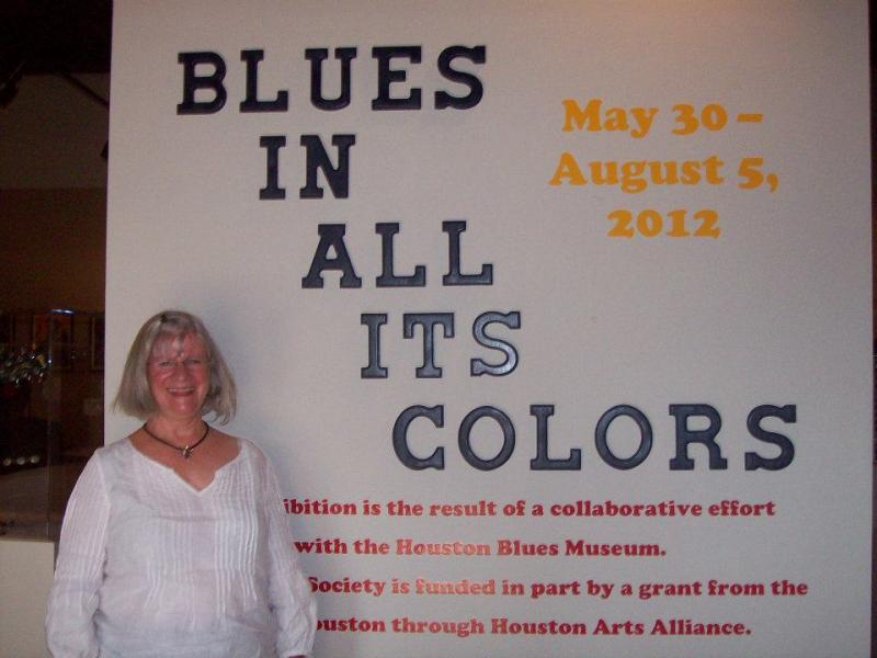 Blues In All Its Colors at The Heritage Society with volunteer Ann Witucki