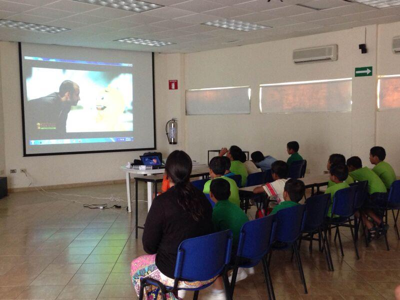 Kids in Mexico (Foster Home) watching the SFK videos