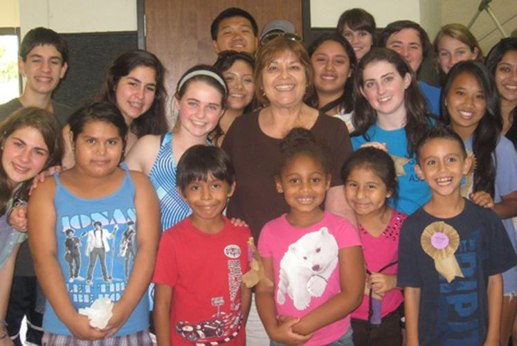 Founder Bea Salazar w/ Kids & Volunteers