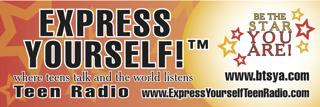 Express Yourself! Teen Radio banner