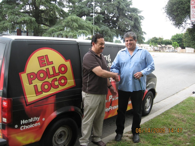 VAN DONATED BY POLLO LOCO