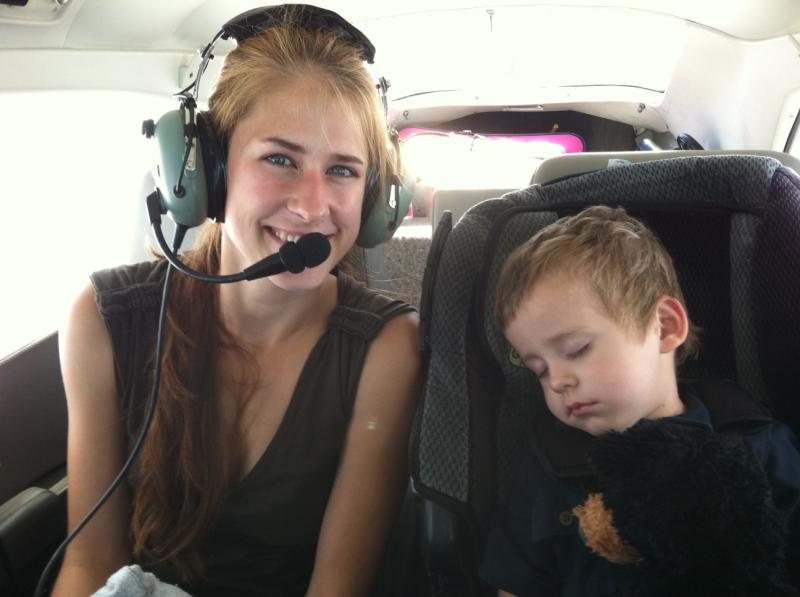 Blake and his mom on their way to treatment from Virginia to Memorial Sloan Kettering in NYC