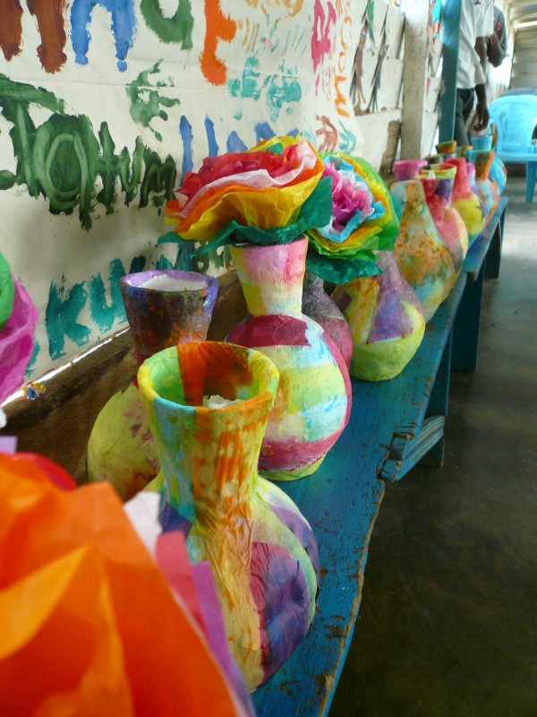 Paper Mache creations - Art Camp Ghana