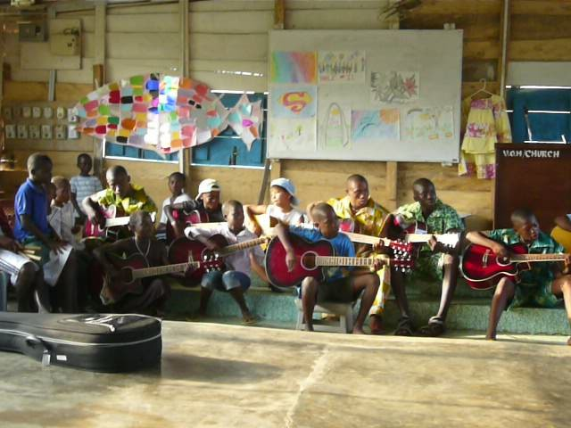 Guitar performance - Art Camp Ghana