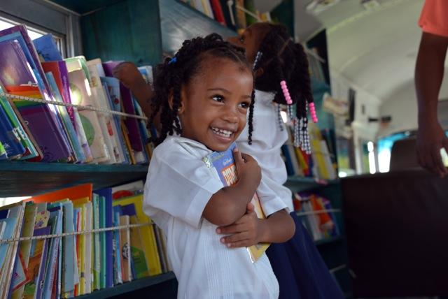 Books for the Bookmobile in Roatan, Honduras
