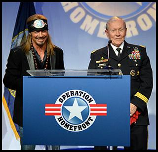 We welcome rock star and philanthropist Bret Michaels to our annual gala to recognize our Military Child of the Year recipients. Little did we know we'd enjoy an impromptu duet with the Chairman of the Joint Chiefs of Staff General Martin Dempsey.