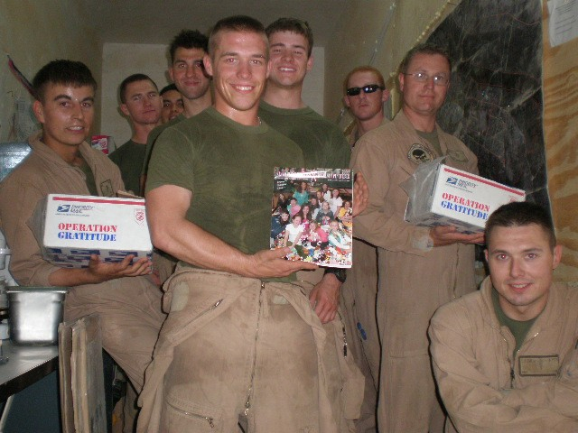 Marines Receive Care Packages