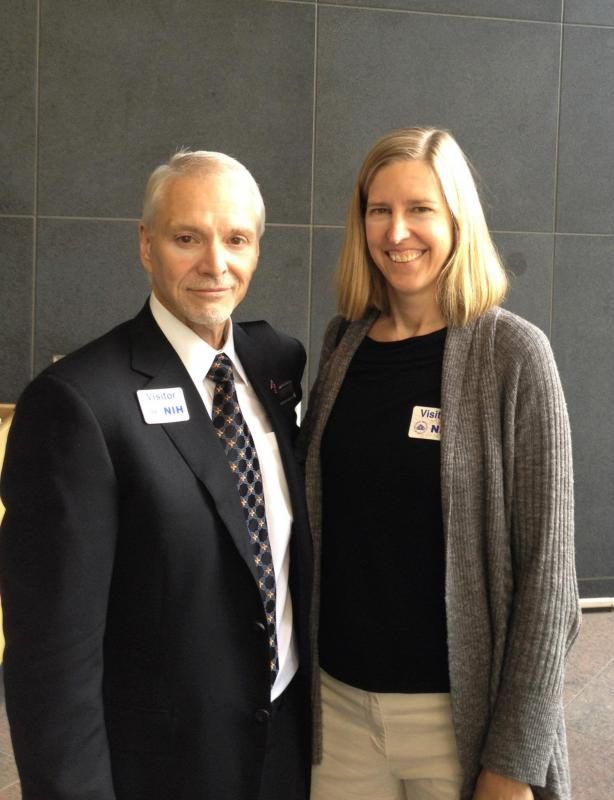 Brian Hill and Dr. Maura Gillison, the leading expert on HPV and oral cancers at the NIH/NCI/NIDCR to push for a clinical trial that will look at HPV vaccines and oral cancers in men.