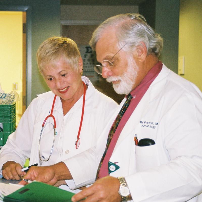 Volunteers at the Henri Woodman Community Health Clinic, the VIM clinic in Brunswick, Georgia