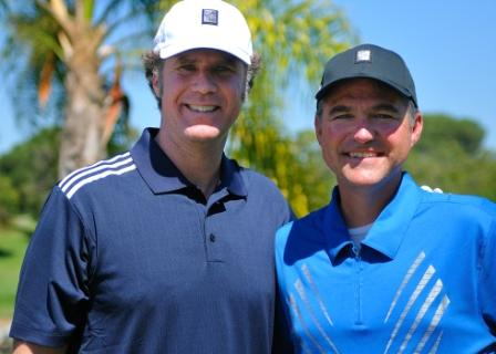 CFC founder Craig Pollard and Will Ferrell at our annual Golf Classic
