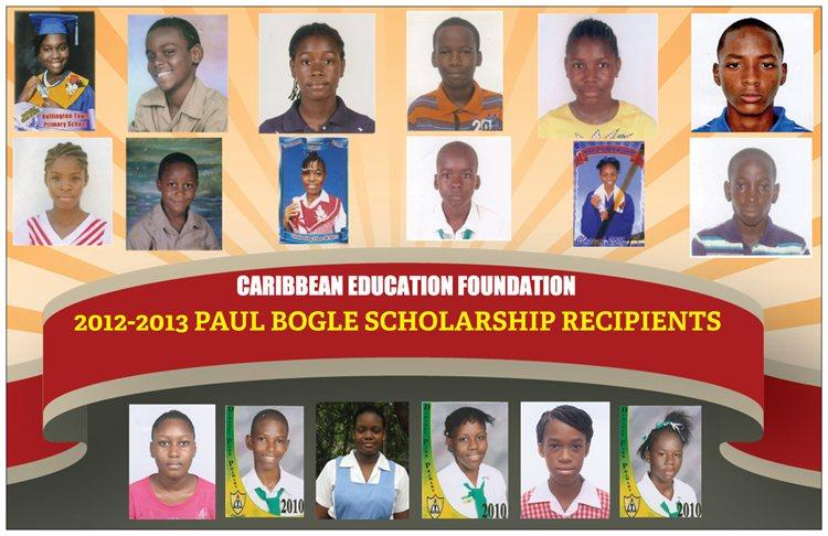 2012-2013 PAUL BOGLE SCHOLARSHIP RECIPIENTS