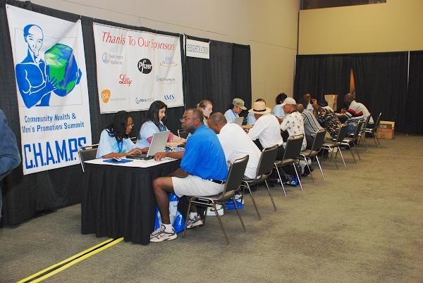 CHAMPS participants registering