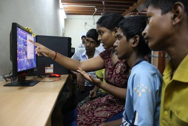 Computer literacy at shelter homes, slum and village communities