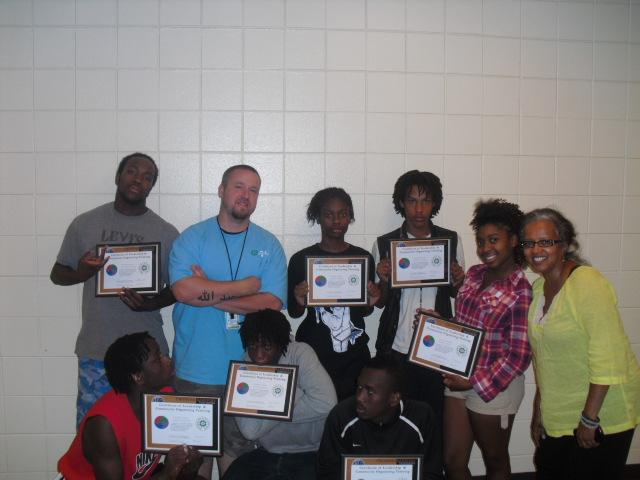 Youth from Phillips Community Center that finished CB's training,