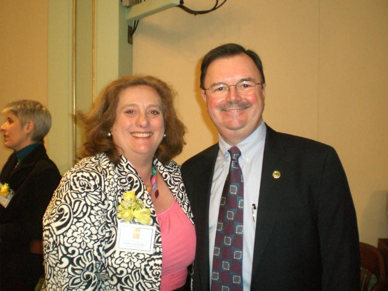 Patricia Gardner with Assemblyman Rich Gordon