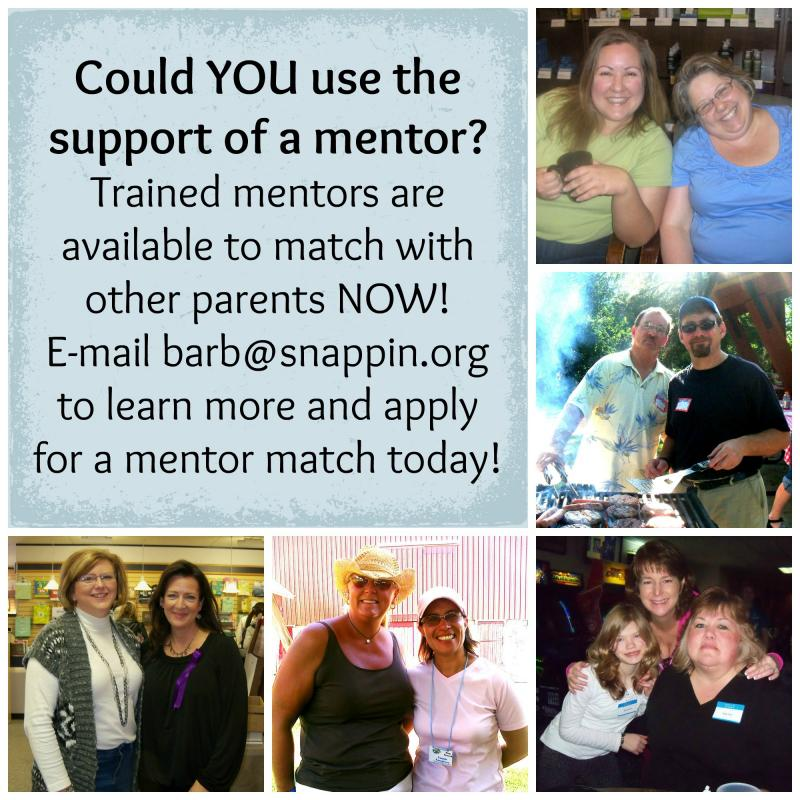 An invitation to be mentored by one of our excellent parent-mentors.