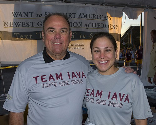 Iraq Veteran and IAVA's Veteran Support Associate, Cara Hammer, at Pats Run 2009