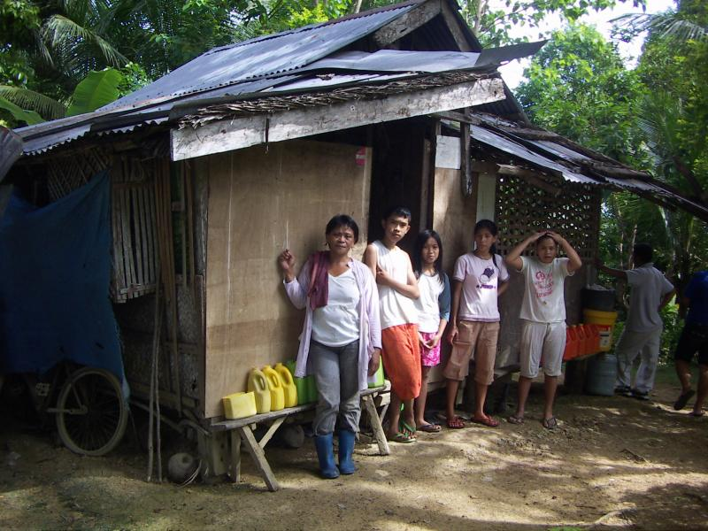 Recipient Family in the town of Carcar, Cebu