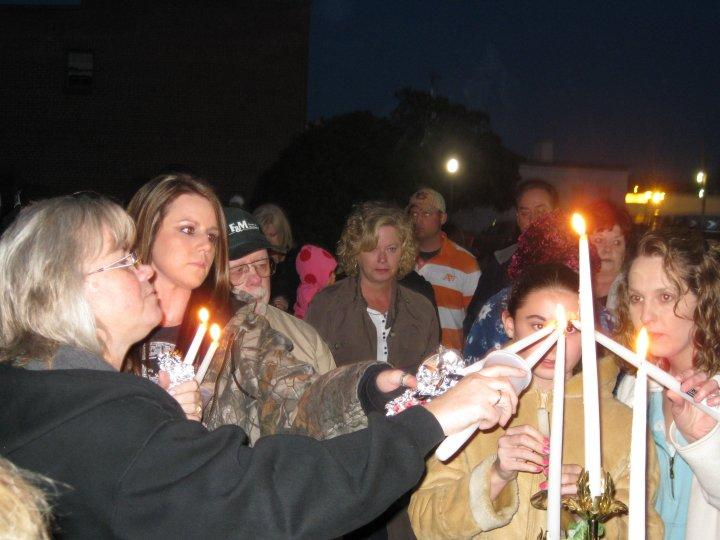 Carla Cook Fuqua Candlelight Vigil