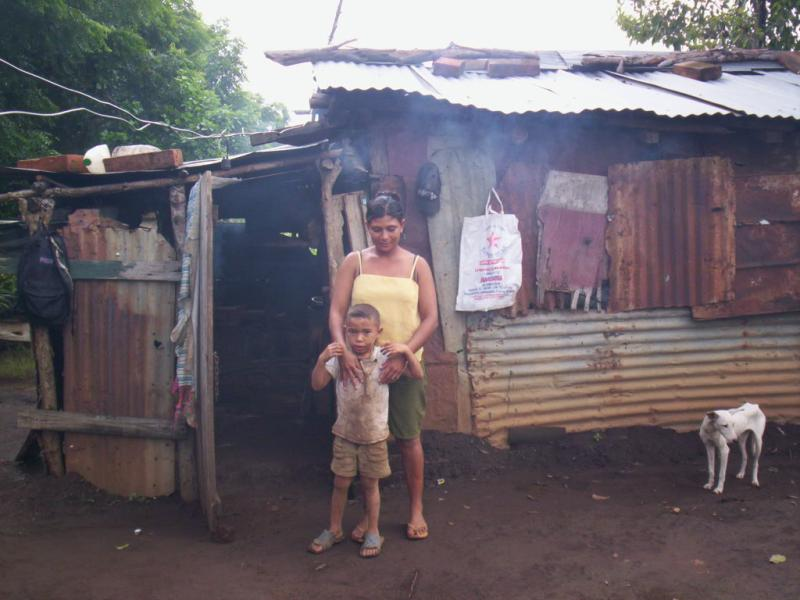 Current Shack Lived in By Families In Nicaragua