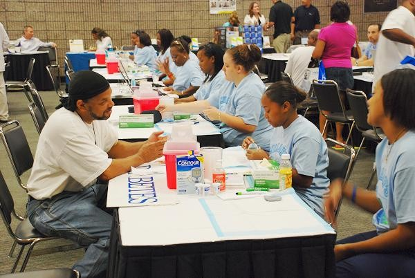 Participants receiving diabetes screening