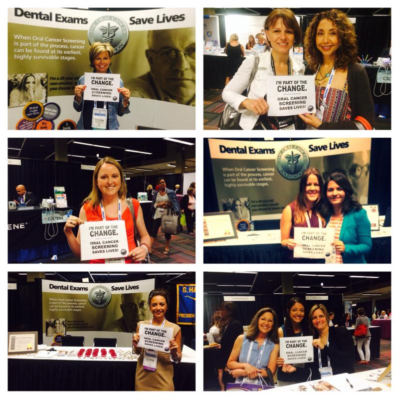 RDH's around the Nation are committing to be part of the change - oral cancer screening saves lives!