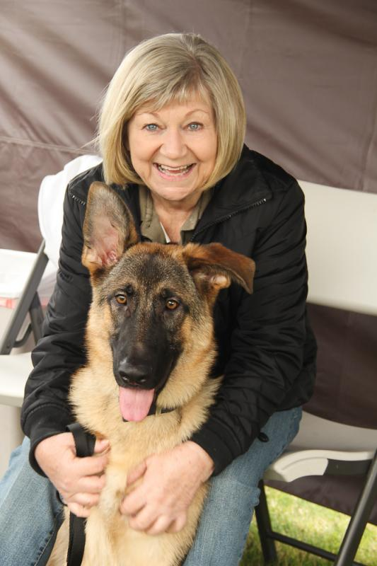 Volunteer Cheryl with Enzo