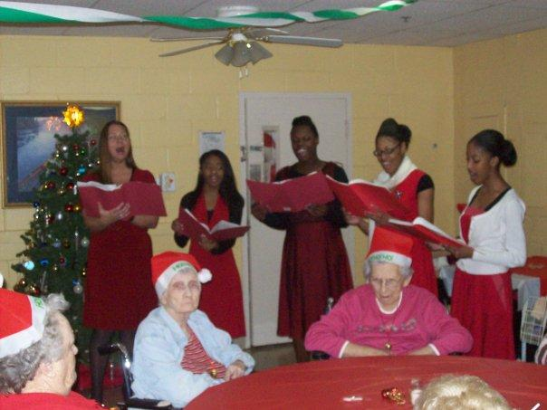 Our very first Christmas Caroling for the elders during the Winter Season!