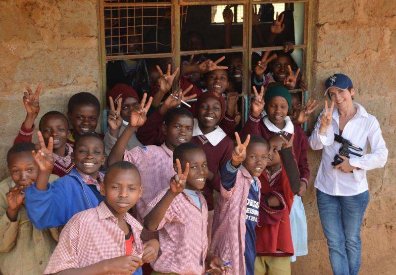 Executive Director Christy Pipkin at the Amboni School-Kenya