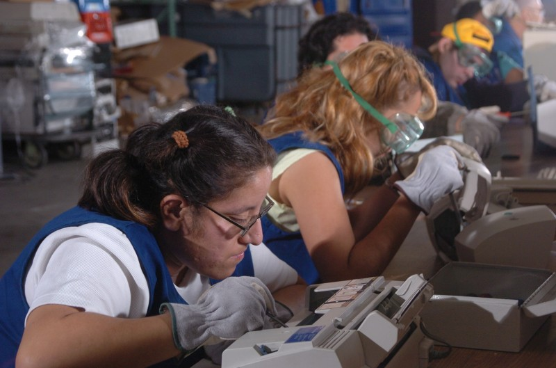 Computer Recycling provides employment for Goodwill's clients with disabilites.