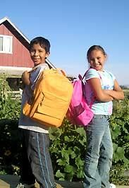 Providing backpacks and school supplies.