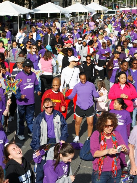 A Sea of Purple at our DC Walk for Lupus Now 2010