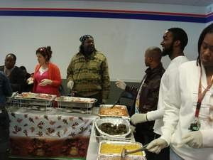 Thanksgiving meal for clients, November 2010