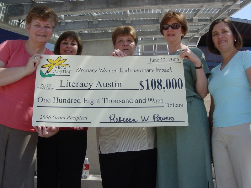 Literacy Austin receives an Impact Austin grant in 2006